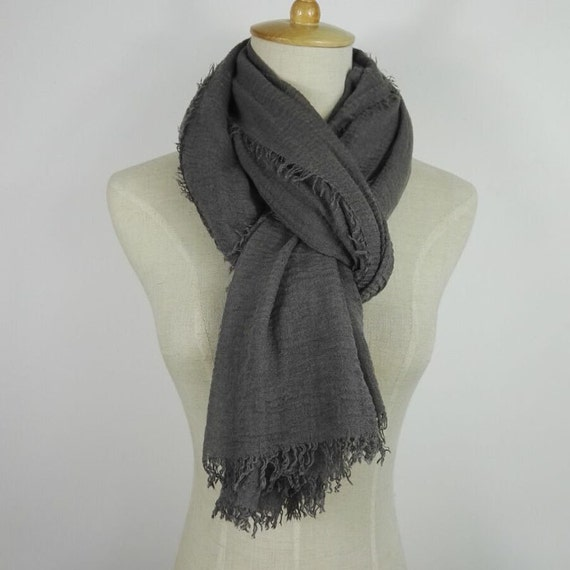 Men Scarf Gray Scarf Men Fashion Gifts For Him Cool Mens Gifts Etsy