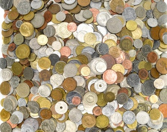 Huge Mixed Bulk Lot of 1000 Assorted World//Foreign Coins Nice Starter Lot!