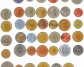 Coins from 20, 30, 40 Different Exotic countries. South, Centra, North Americas, Asia, Australia, Africa, Middle East, Caribbean