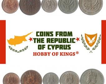 1963-1982 Set of 4 Cyprus coins 100,50,25,5 MILS