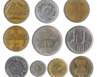 25 Piasters,Lot of 4 coins 10 2008 Egypt Египет Coin Uncirculated conditions,5