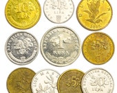 Lot of 10 Mixed Collectible Croatia Coins Lipa 1993 - Now