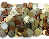 Huge Mixed Bulk Lot of (30, 100 Coins - 1 lb, 2 lbs, 4 Pounds) Assorted World Foreign Coins Mostly end of 20th Century Dates