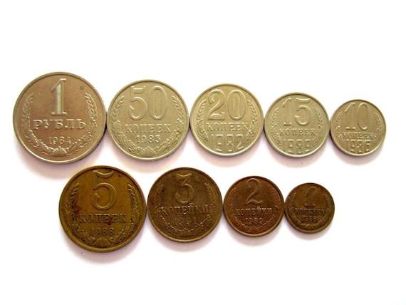50 Russia 10 Kopek Coins 1961-1991~Free Ship Circulated Vintage Roll U.S.S.R