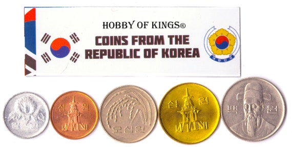 FOREIGN CURRENCY 5 HONG KONGESE COIN LOT DIFFER COLLECTIBLE COINS FROM ASIA