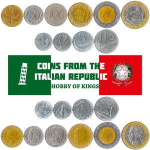 500 Lire Italian Pre-Euro Bulk Coins 1951-2001 10 Italian Coins 5 Lire