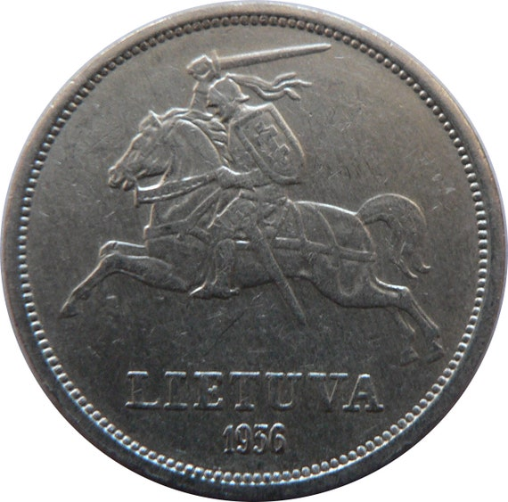 FIRST REPUBLIC OF LITHUANIA SILVER COIN 1 LITAS 1925