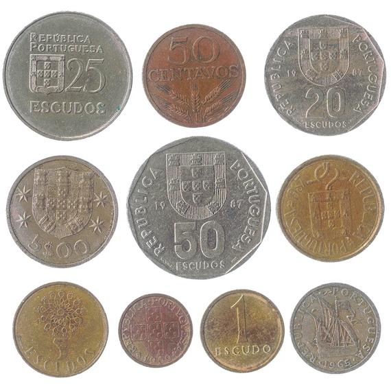 100 coins of Portugal escudos pré-euro