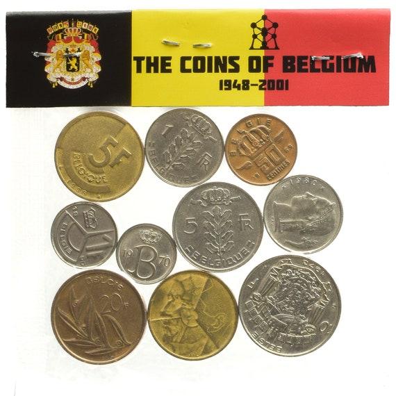 Bulk Konvolut Von 10 Münzen Belgien Franken Rappen Pre Euro Etsy