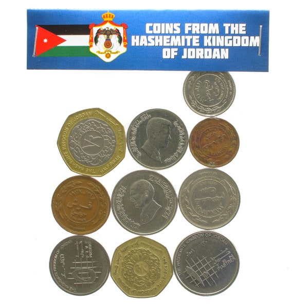 Lot Von 10 Jordanischen Münzen Aus Dem Nahen Osten Etsy
