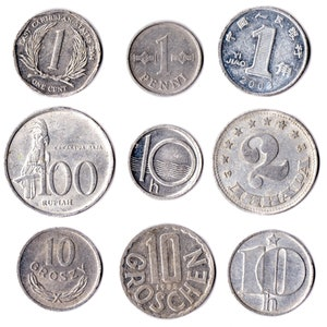 OLD COLLECTIBLE COINS SET OF 23 COINS FROM 23 DIFFERENT COUNTRIES COINS LOT