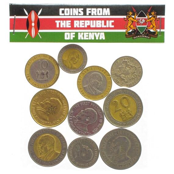 Lot Von 10 Kenianischen Münzen Aus Ostafrika Kenia Cent Etsy