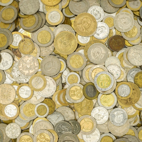 OLD COLLECTIBLE EAST AFRICAN COINS 10 KENYAN COINS FROM KENYA