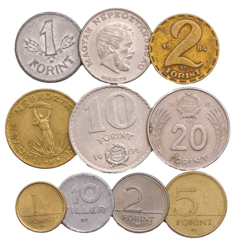 Lot of Mixed 10-50-100 Hungary Coins Filler Forint Hungarian Pre-Euro 1946  - Present Money