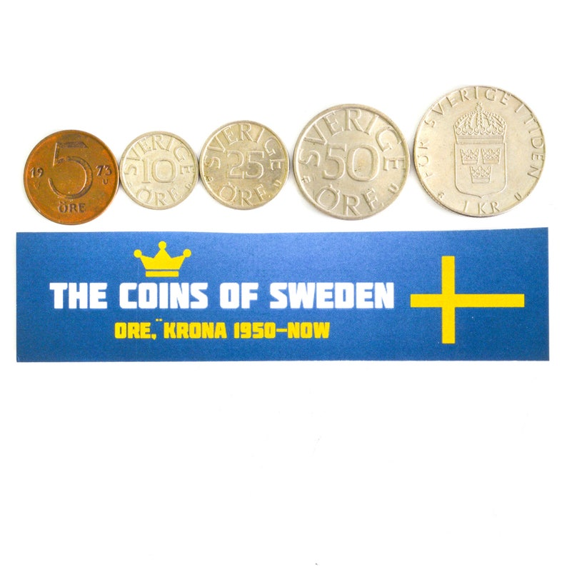 1 KRONEN SCANDINAVIAN OLD COLLECTIBLE COINS SET COINS FROM NORWAY 1 ORE