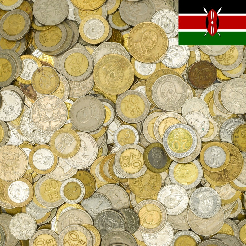 10 EAST AFRICAN KENYAN COINS FROM KENYA OLD COLLECTIBLE COINS LOT 1966-2013