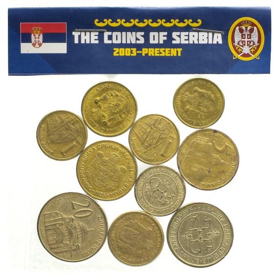 Serbische 10 Münzen Aus Serbien Dinar Dinara Viel Währung Etsy