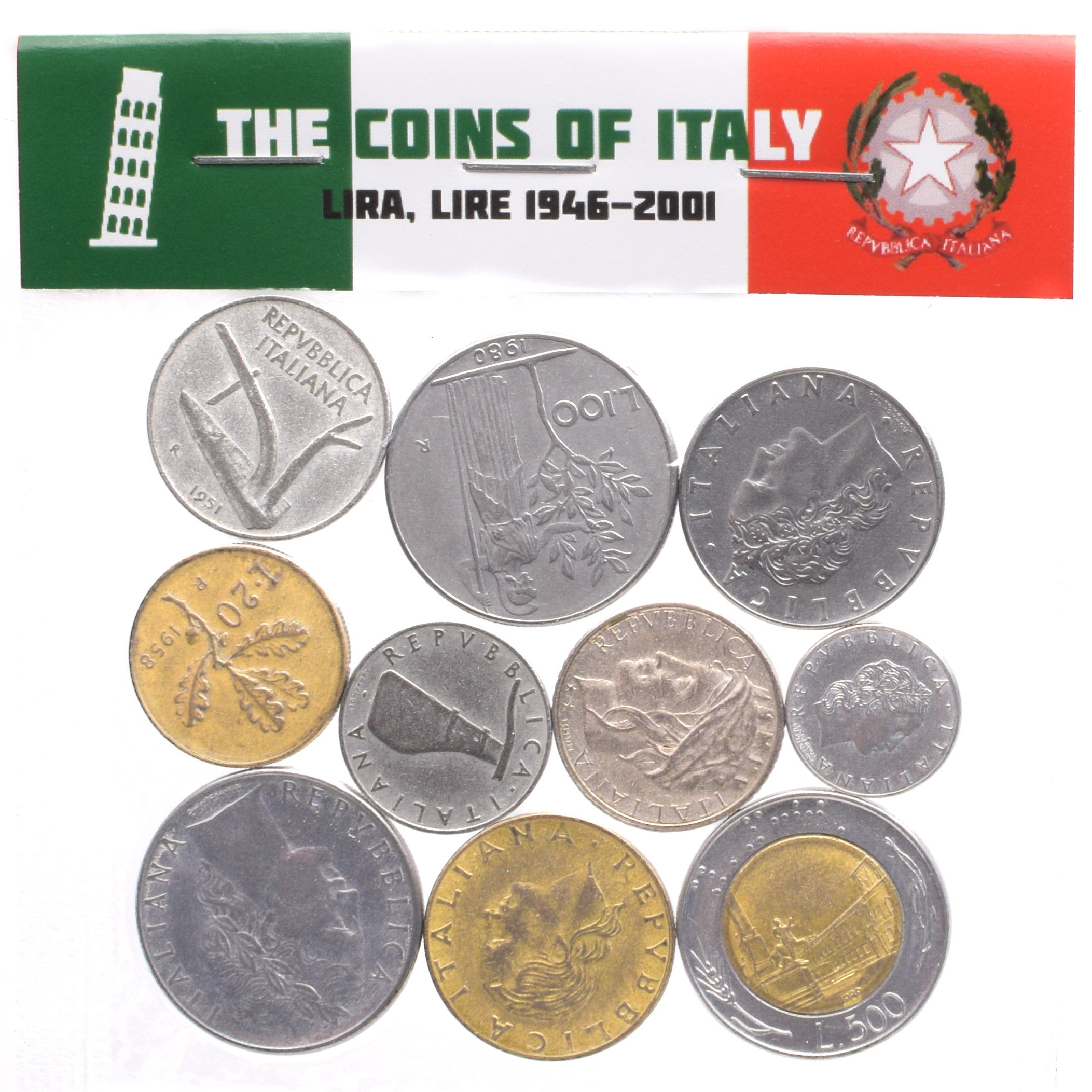 Lot Of Mixed 10 Coins 4 Pounds 18kg Italian Coins Lira Etsy