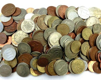 Huge Mixed Bulk Lot of (30, 100 Coins - 1 lb, 2 lbs, 4 Pounds) Assorted World/Foreign Coins! Mostly end of 20th Century Dates
