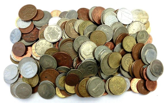 5 Full Pound Lbs Lot of Unsearched World Foreign Coins