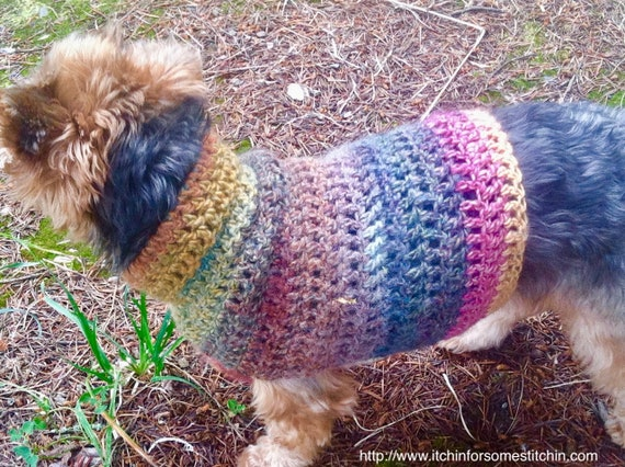 Quick Easy Small Dog Crochet Sweater Pattern Etsy