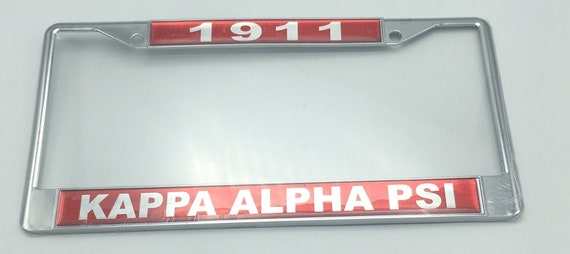 Kappa Alpha Psi 1911 License Plate Frame Etsy