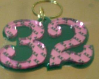 Alpha Kappa Alpha- Line Number Keychain #32