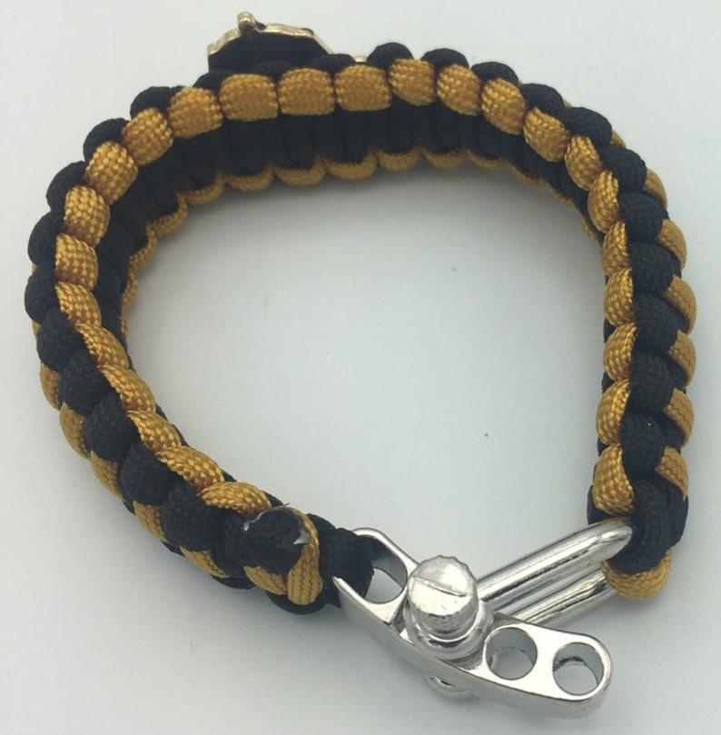 Paracord Survival Bracelet wAjustible Clasp Alpha Phi Alpha
