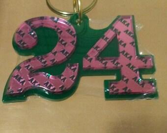 Alpha Kappa Alpha - Line Number Keychain #24