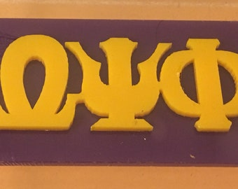 Omega Psi Phi - Acrylic Sticker