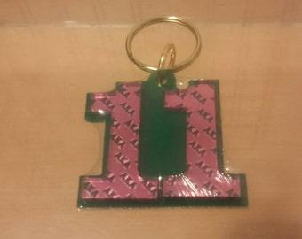 Alpha Kappa Alpha - Line Number Keychain #11