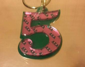Alpha Kappa Alpha - Line Number Keychain #5