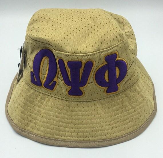 Omega Psi Phi Khaki Bucket Hat  e1e5074372a