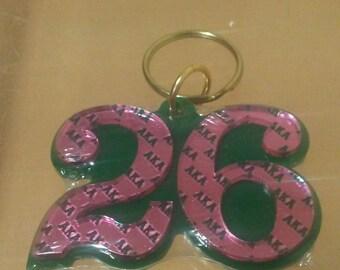 Alpha Kappa Alpha- Line Number Keychain #26