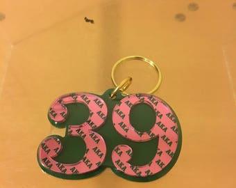 Alpha Kappa Alpha - Line Number Keychain #39