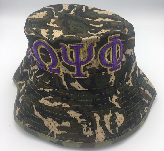 Omega Psi Phi Camo Bucket Hat 61  e7e01afe68e