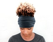 Graphite Boho Head Wrap Wide Headband Multipurpose