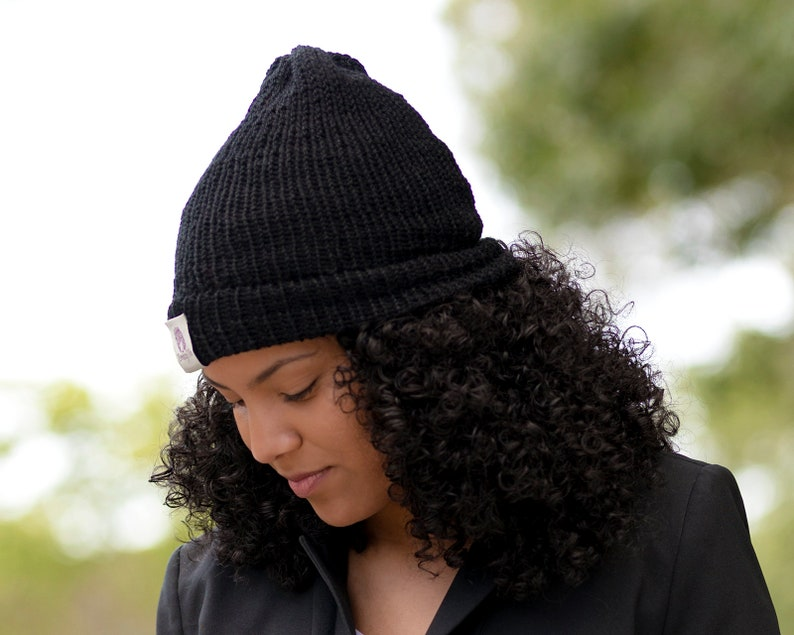 dfde31195d08e Satin Lined Knit Beanie Black Locks In Hair Moisture   Frizz