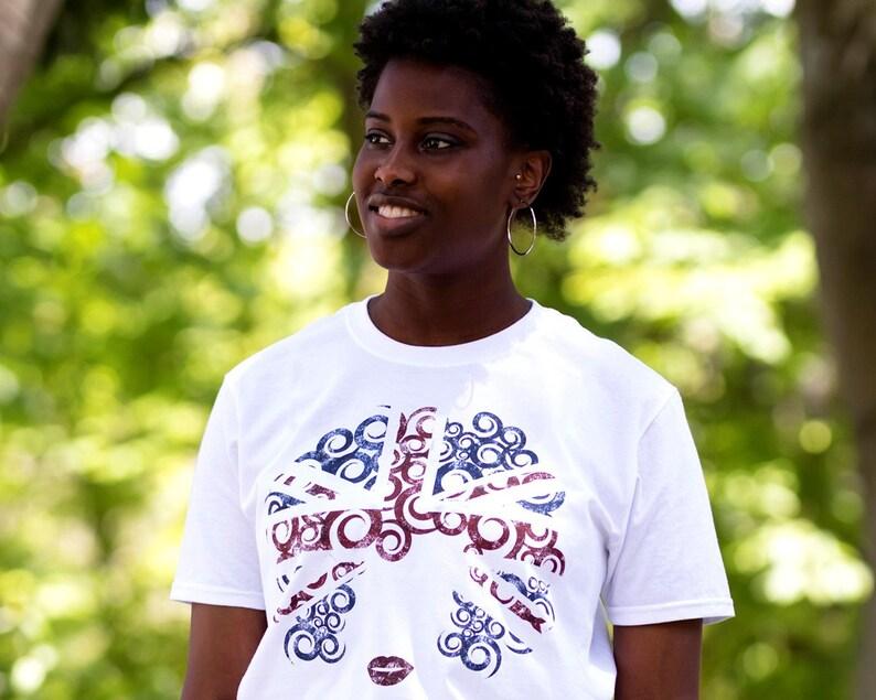 97376066e Natural Hair T-shirt UK Flag Distressed Tee Custom Natural | Etsy