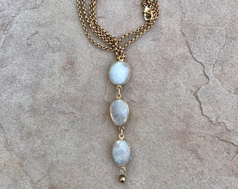 Iridescent Moonstone Necklace