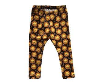 Lion baby leggings, Lion toddler leggings, Boys Lion leggings, baby boy leggings, spring kids pants, animal boys leggings, baby lion pants