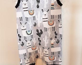 Llama Shorts harem romper, boho kids clothes, baby girl romper, harem jumpsuit, toddler romper, hipster baby clothes, toddler boy clothes,