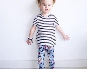 Floral baby leggings, Floral toddler leggings, girls flower leggings, baby girl leggings, flower kids pants, girls yoga leggings, baby pants