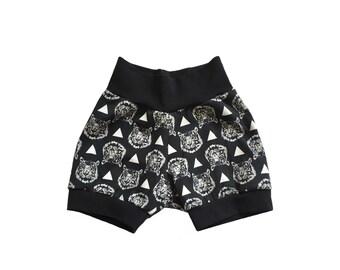 Tiger kids Shorts, kids summer clothes, baby shorts, toddler shorts, trendy baby shorts, edgy kids clothes, boys shorts, baby boy shorts