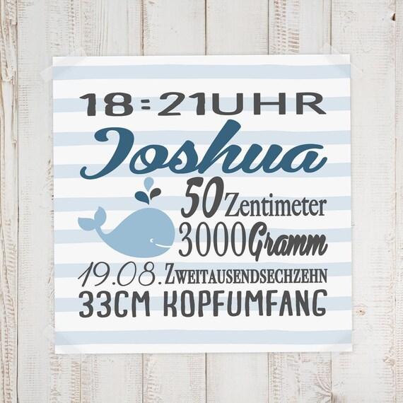 Geburtsbild Geburtsdatenbild Joshua Etsy