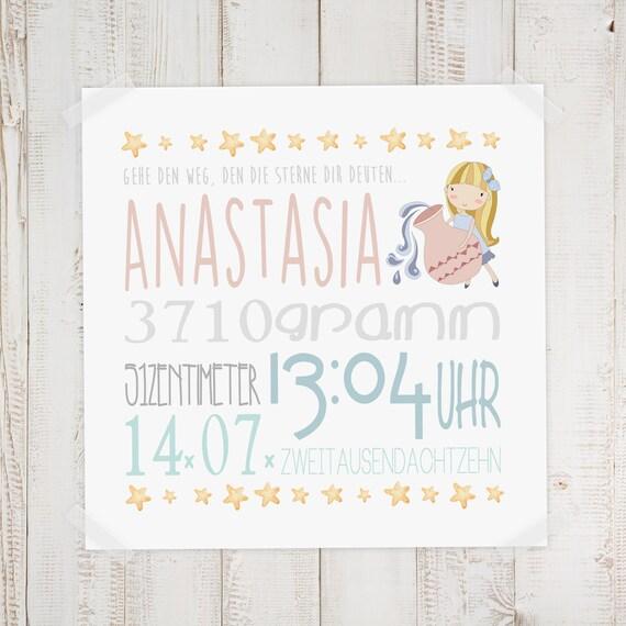 Geburtsdaten Wandbild Anastasia