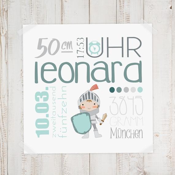 Geburtsbild Geburtsdatenbild Leonard