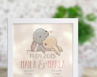 Luminaire frame twins named Maila & Marla