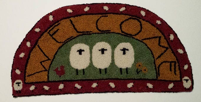 Welcome Sheep Rug Hooking Kit Etsy