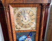 Tiffany 1850 Case Clock with reverse painting
